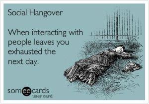 social hangover